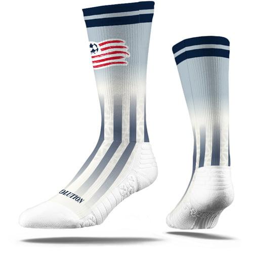 New England Revolution Premium Sublimated Crew Socks - White - M/L