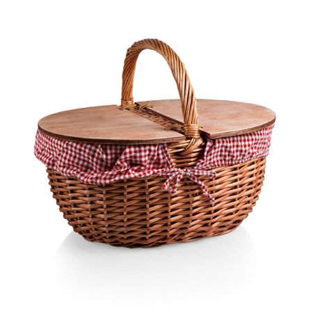 August Grove Country Picnic Basket - Picnic Baskets Wholesale