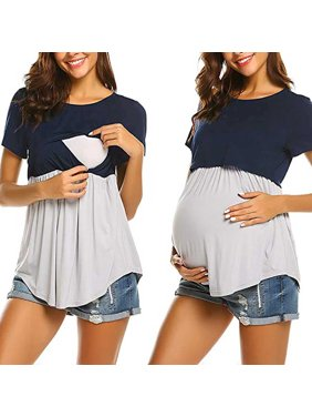 Tuscom Women Pregnant Maternity Nursing Breastfeeding Top T-Shirt Blouse