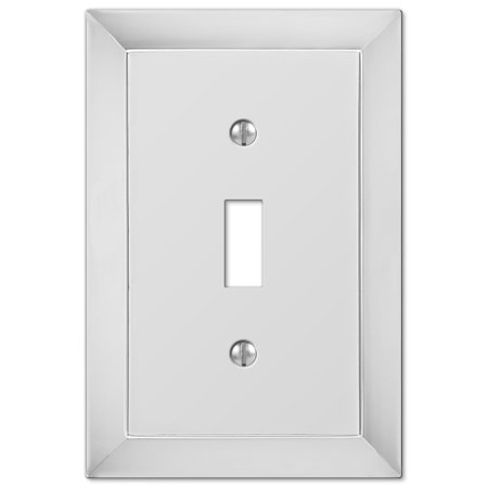 Amerelle 44RAN Ribbon and Reed 1 Rocker-GFCI Wallplate, Antique Nickel ()