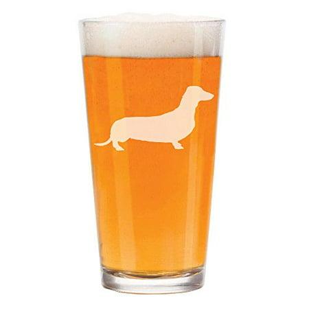 16 oz Beer Pint Glass Dachshund