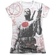 Bloodshot Tactical (Front Back Print) Juniors Sublimation Shirt