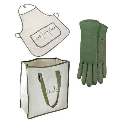 Bamboo Tote Bag (Naturally Green Bamboo Gloves, Tote Bag & Full Apron )