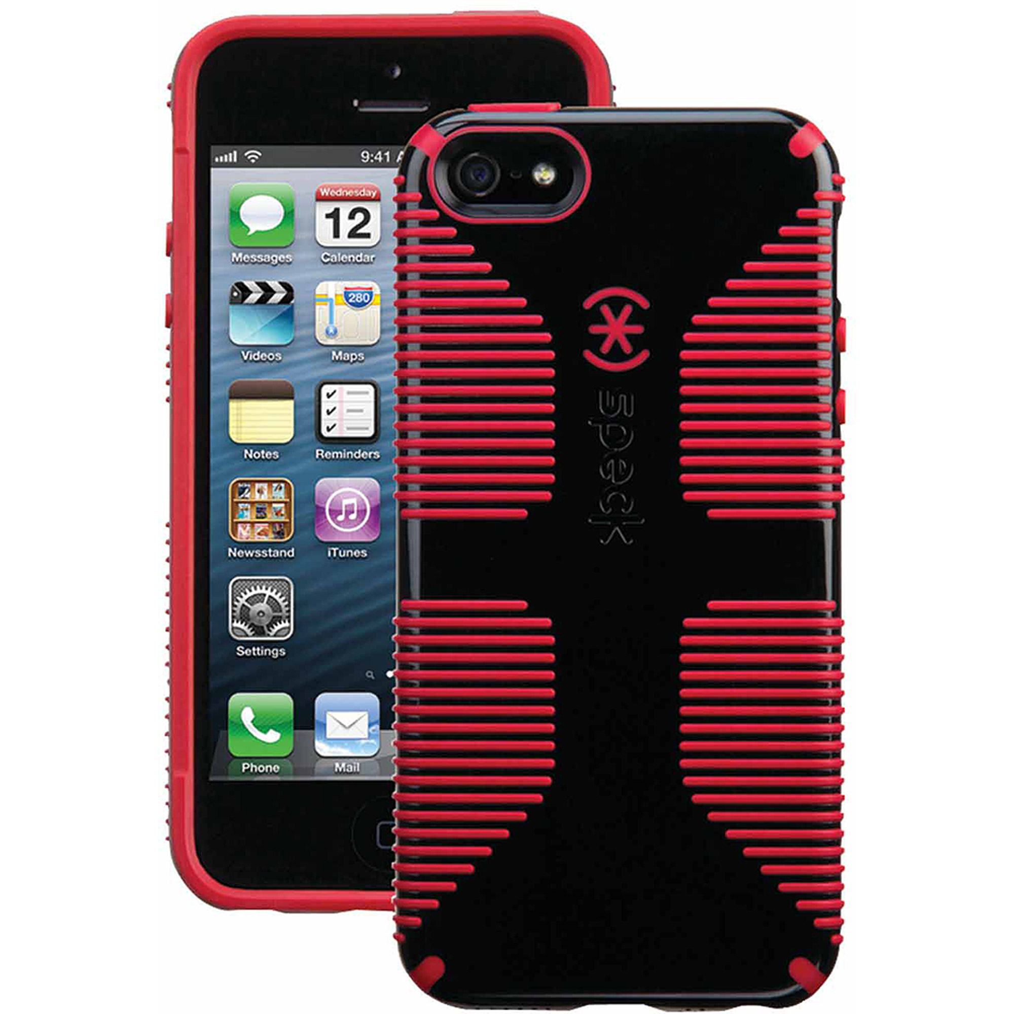 Speck CandyShell Grip Case For Apple IPhone SE 5 5S Red And Black SPK A2939