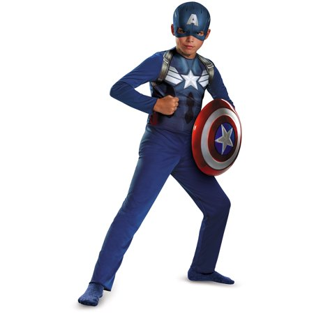 Captain America Movie 2 Basic Child Halloween Costume (Captain Marvel Halloween Costumes)