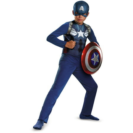 Captain America Movie 2 Basic Child Halloween Costume](Captain America Halloween Costume Kids)