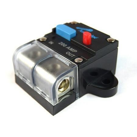 12 Volt 200 AMP Manual Resettable Circuit Breaker Car Audio and Marine (Best Brick Breaker App)