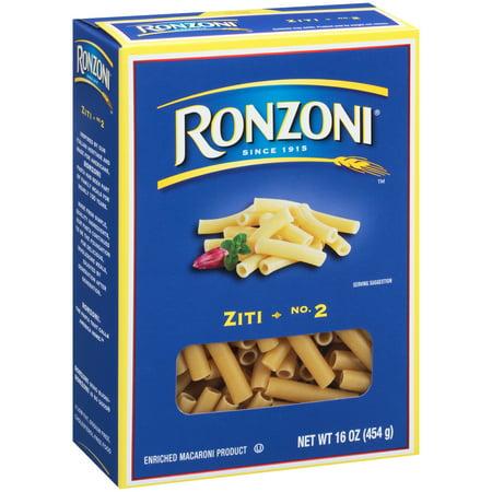 Ronzoni Ziti Pasta, 16-Ounce Box