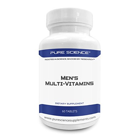 Pure Science Men Multivitamin   Essential Vitamins To Improve Male Health  Immune Response  Blood Circulation   Reduce Anxiety   Your Male Multivitamin Supplement   60 Multi Vitamins Tablets