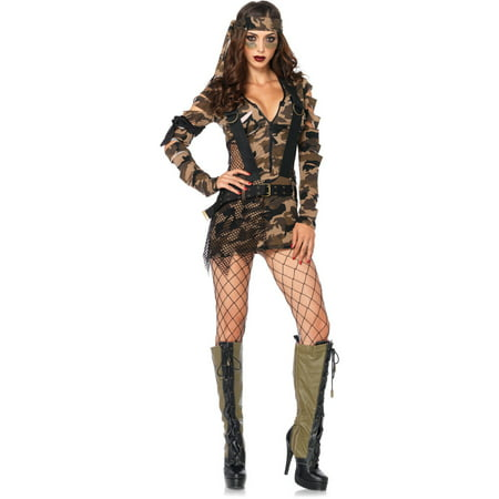 Leg Avenue Combat Girl Adult Halloween Costume](Combat Arms Halloween 5 Shot)