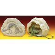 Penn Plax Reptology Fossil Cave Hide-A-Way Home for Reptiles