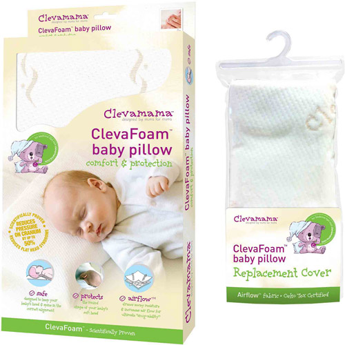 Clevamama Foam Baby Pillow & Replacement Pillow Cover