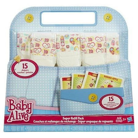 Baby Alive Doll Food And Diapers Super Refill Pack 30