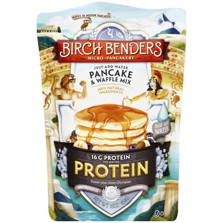 Birch Benders Protein Pancake & Waffle Mix, 16 oz, (Pack of 6) by
