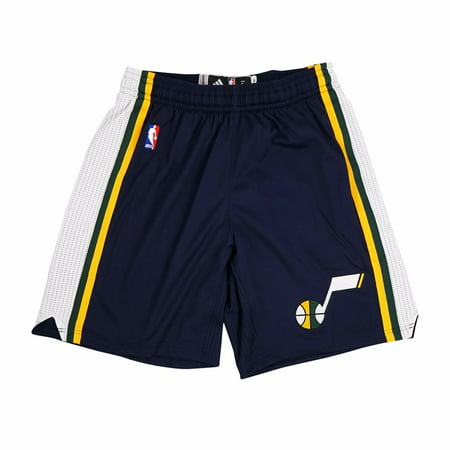Utah Jazz Nba Adidas Navy Blue Authentic On Court Road Away Climalite Game Shorts For Men