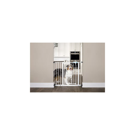 Carlson Extra Wide Walk Through Pet Gate With Small Pet
