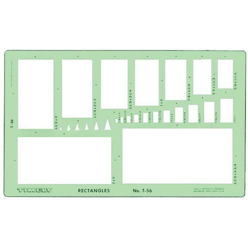 Timely Rectangles Template (Set of 2)