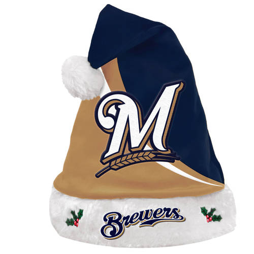 Forever Collectibles MLB Swoop Logo Santa Hat
