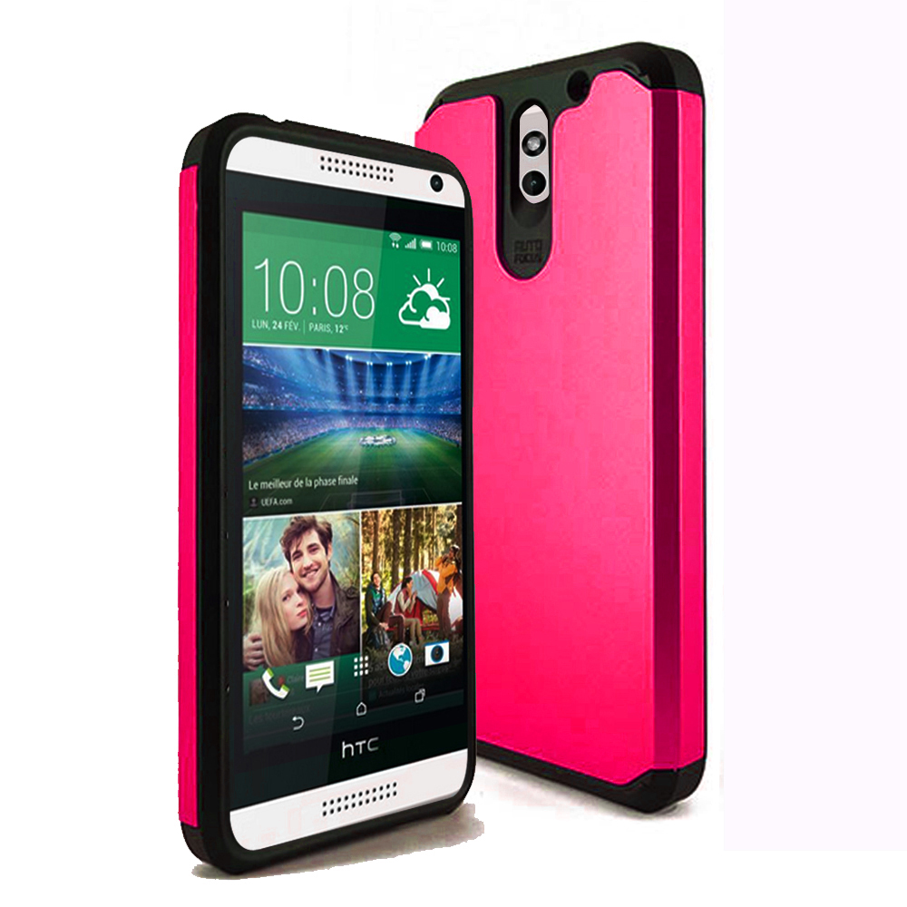 HTC Desire 610 TPU Slim Rugged Hard Case Cover PInk