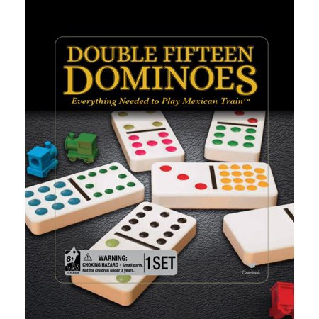 Color Dot Dominoes - Double Fifteen Color Dot Dominoes Game in a Tin