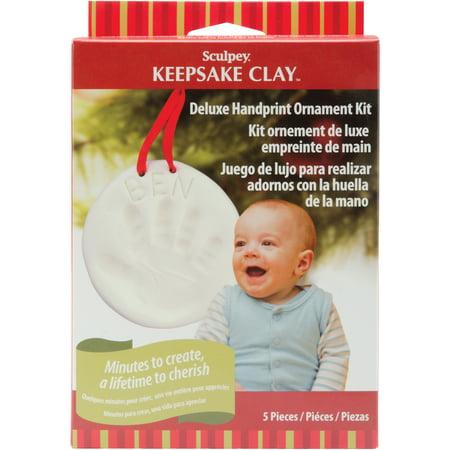 Sculpey Keepsake Clay Ornament Kit, Handprint (Santa Handprint Ornament)