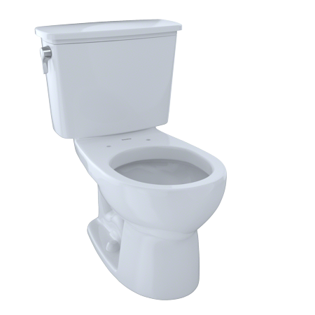 TOTO® Eco Drake® Transitional Two-Piece Round 1.28 GPF Toilet, Cotton White -