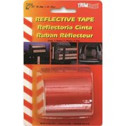 TRIMBRITE T1816 Reflective Tape, Red, 2 In. X 24 Ft.