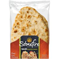 Stonefire Roasted Garlic Naan, 2 count, 8.8 oz