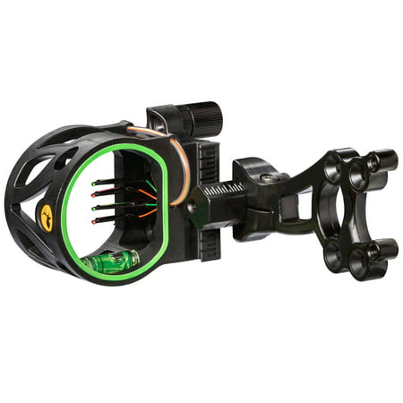 Trophy Ridge Joker 4-Pin Sight with Reversible Mount Design for Right and Left Hand Bows and Four Ultra-Bright .019