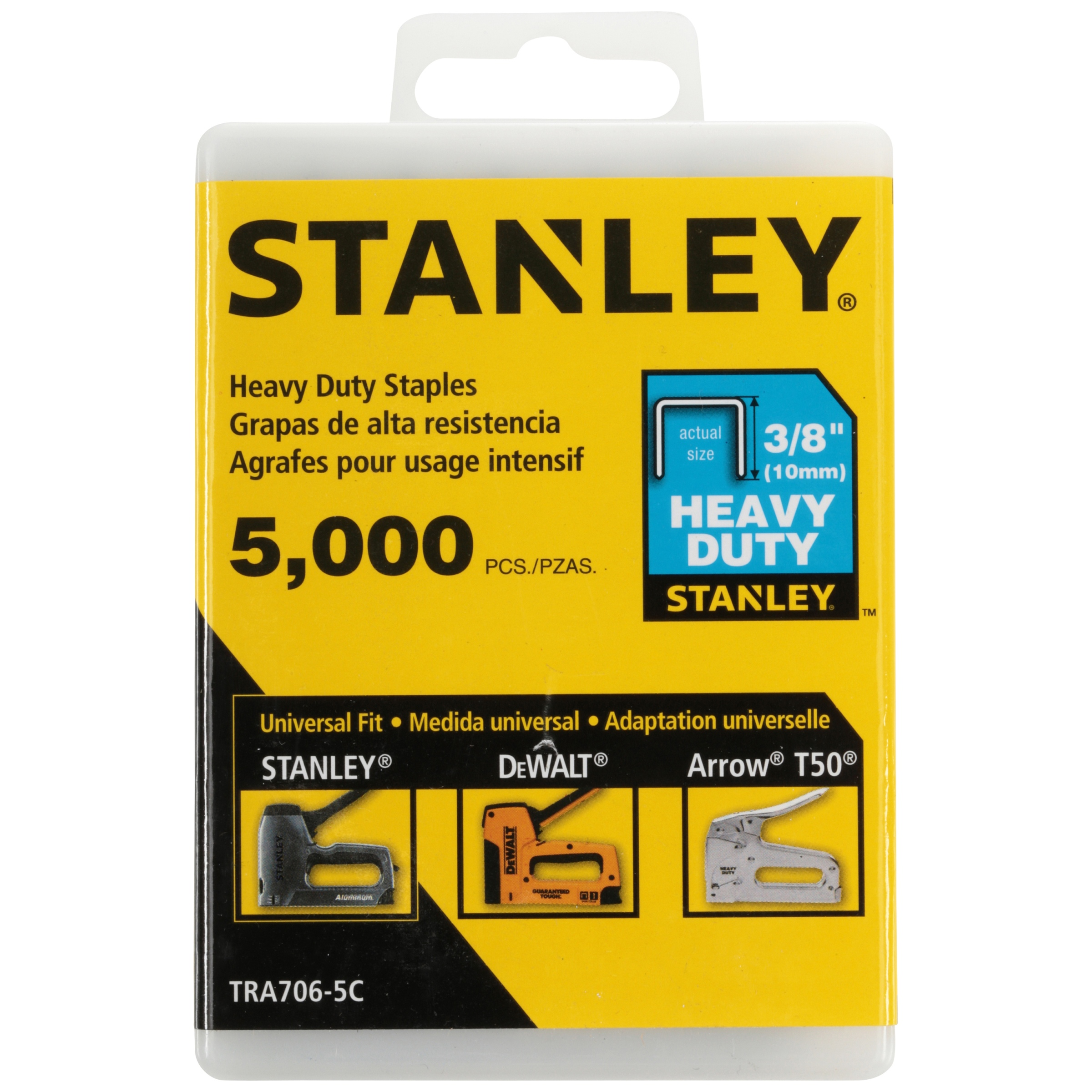 "STANLEY 3//8/"" Heavy-duty Staples TRA706T"