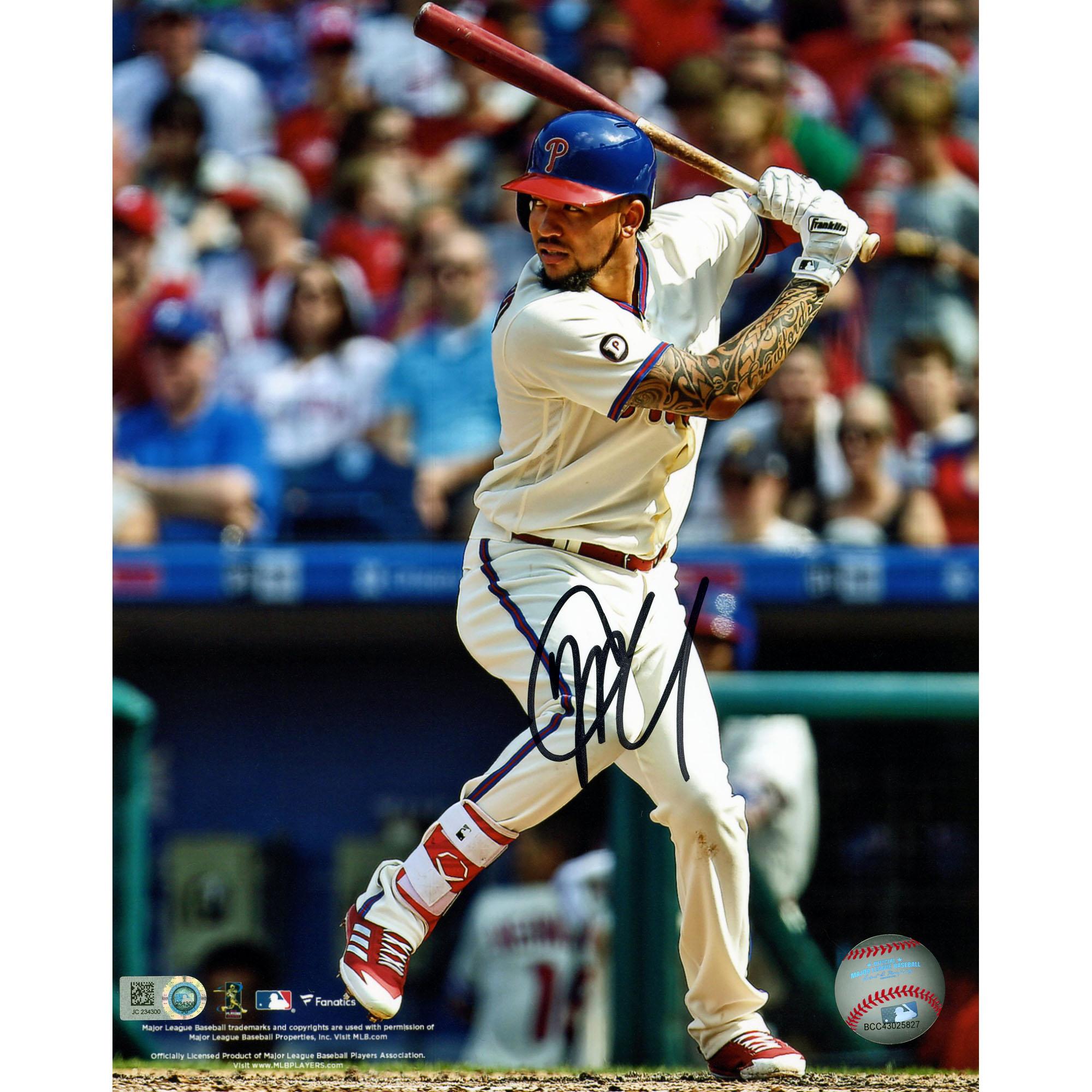 "JP Crawford Philadelphia Phillies Fanatics Authentic Autographed 8"" x 10"" Vertical Hitting Photograph - No Size"