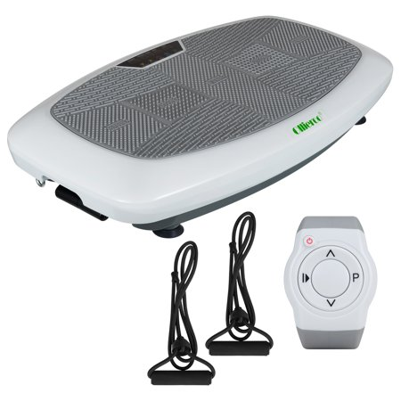Allieroo Viberation Platform, Workout Machine, Exercise Equipment for Home, Fit Massage, Weight Balance & Body Shape Vibration Plate, Remote Control & Balance Straps Included