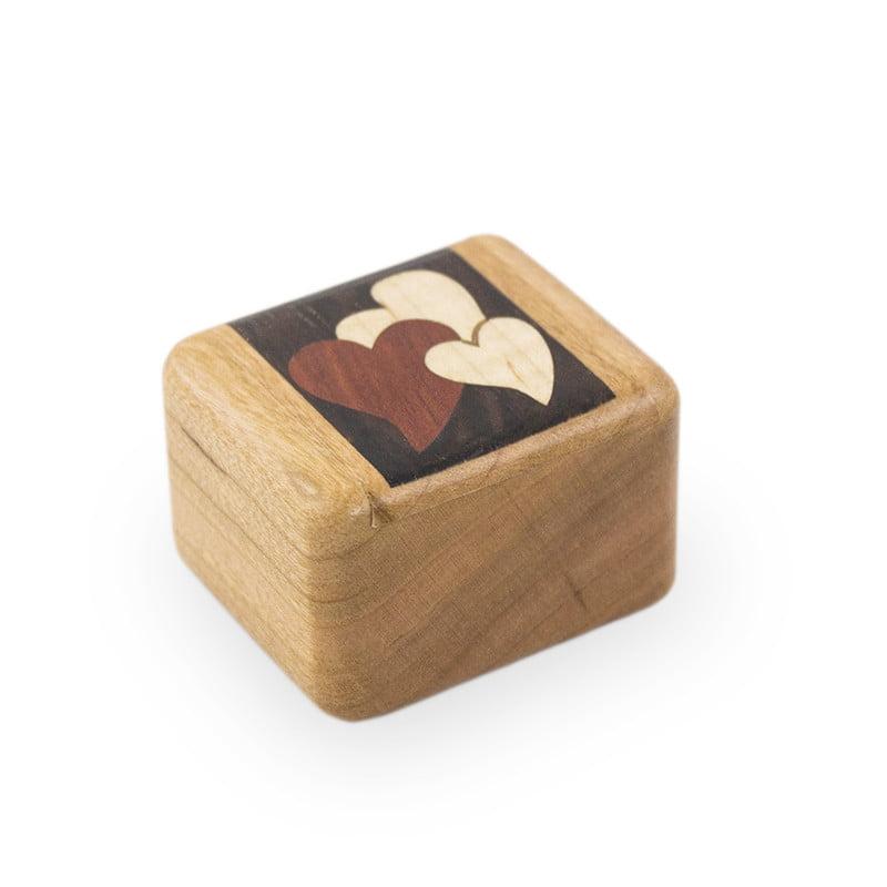 Cherry Wooden Keepsake Box Treasures of the Heart by OneWorld Memorials