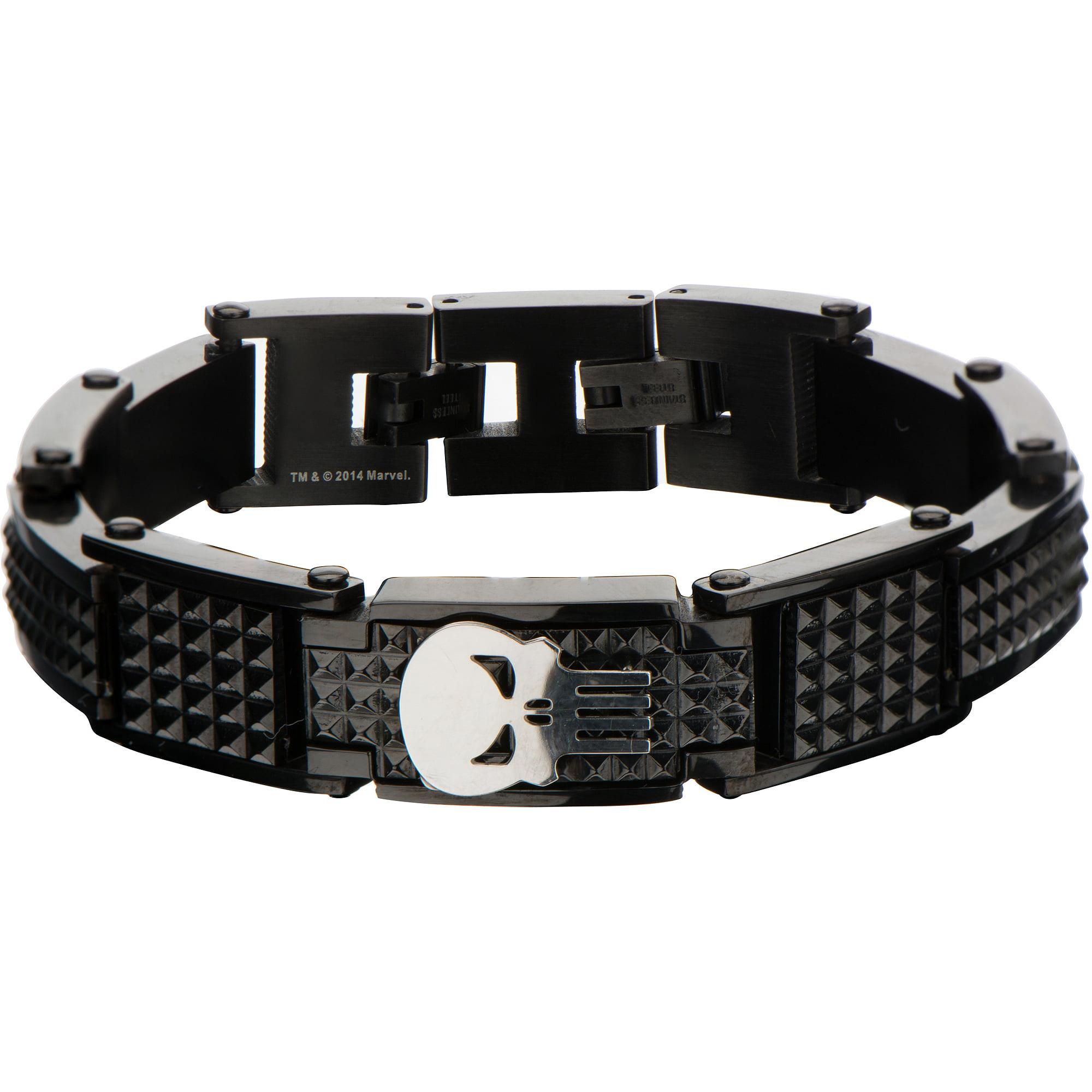 Marvel Punisher Black Steel Bracelet