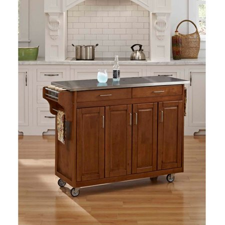 Home Styles Create A Cart Cottage Oak With Stainless Top