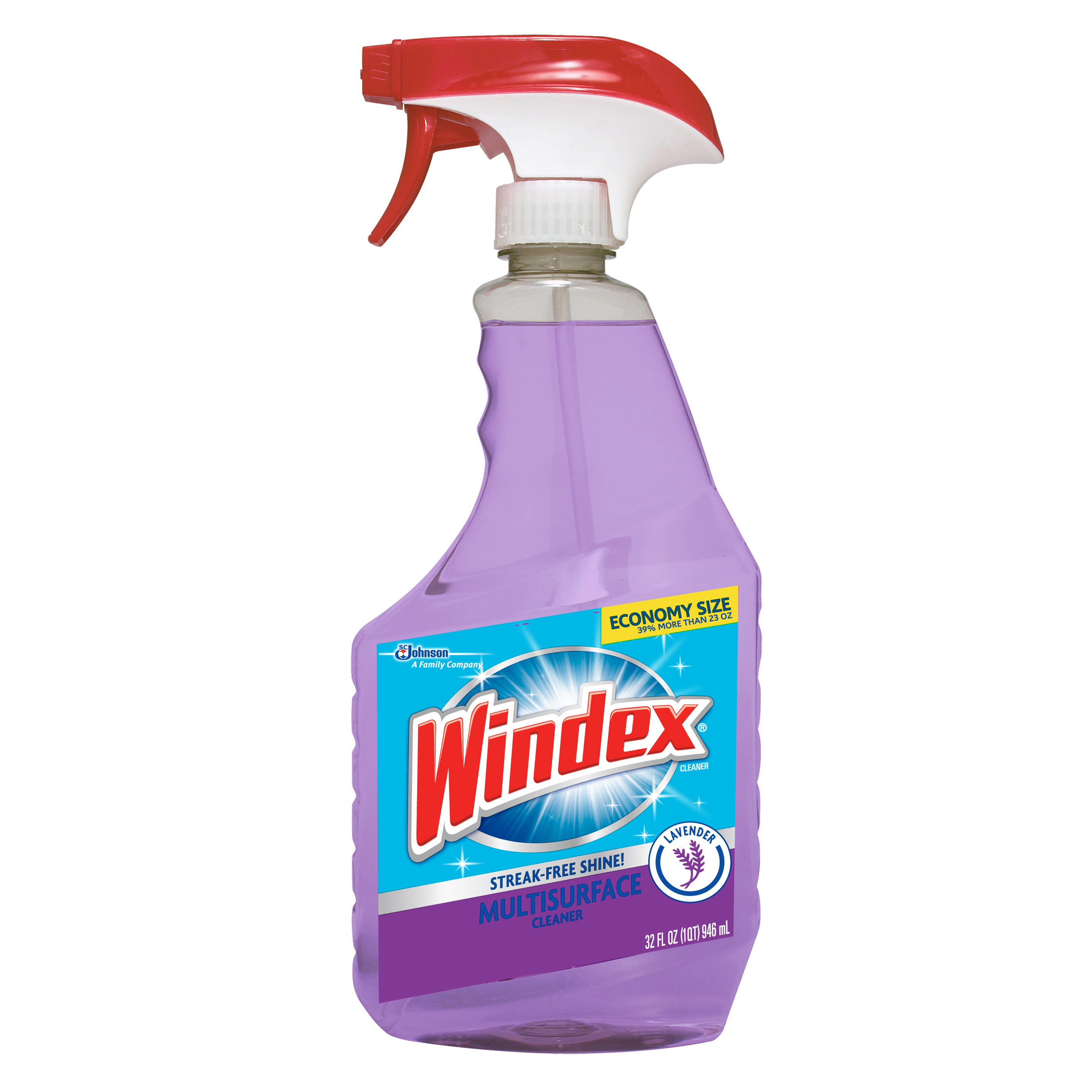 Windex Multi-Surface Cleaner Trigger, Lavender & Peach, 32 Fluid Ounces