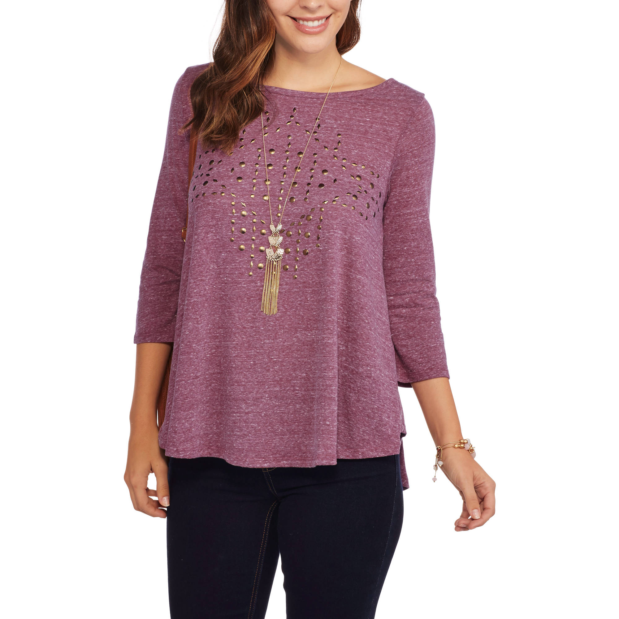 French Laundry Women's Embellished Swing Top