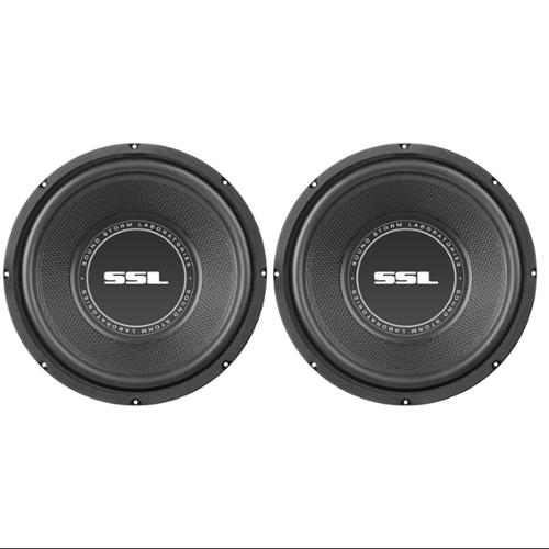 "2) SoundStorm SSL SS12 12"" 1600W Car Subwoofers Power Subs Audio Woofers Stereo"
