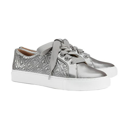 5491ab9fdc0e9 Tory Burch - Tory Burch Marion Quilted Metallic Lace-Up Sneaker