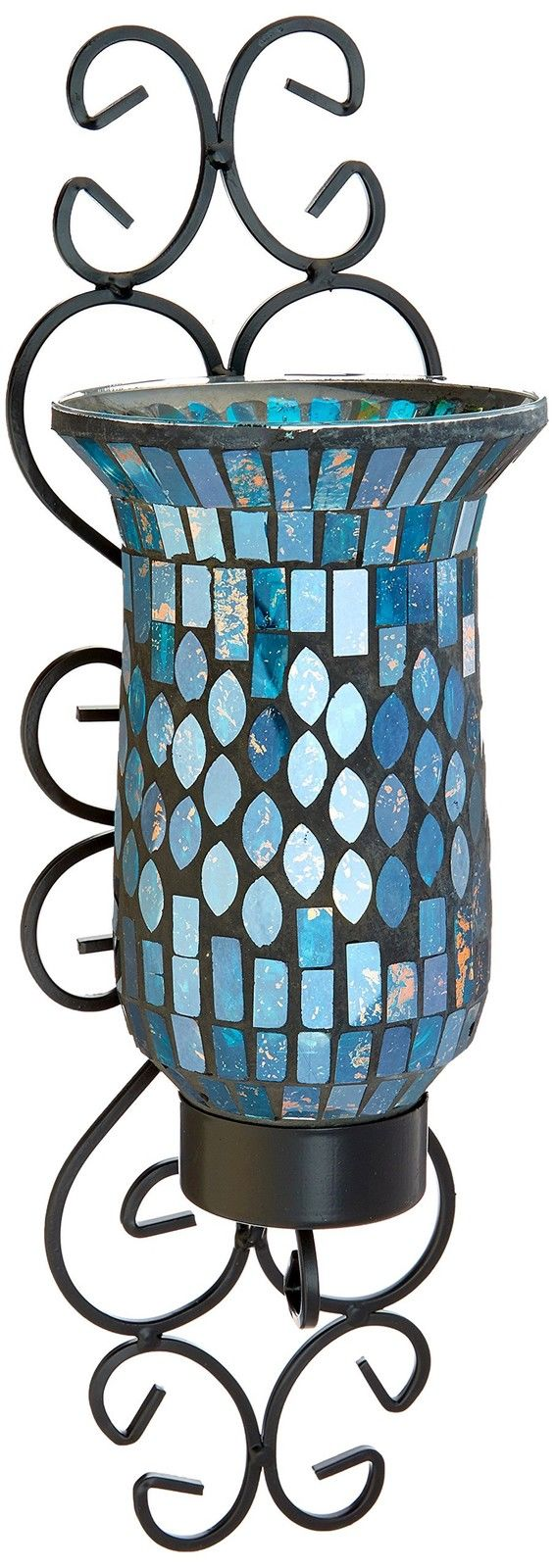 American Atelier Mosaic Glass and Metal Wall Sconce by American Atelier