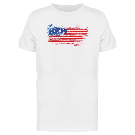 American Flag Watercolor Tee Men's -Image by Shutterstock