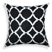Black/ White Geometric Pattern Decorative Pillow