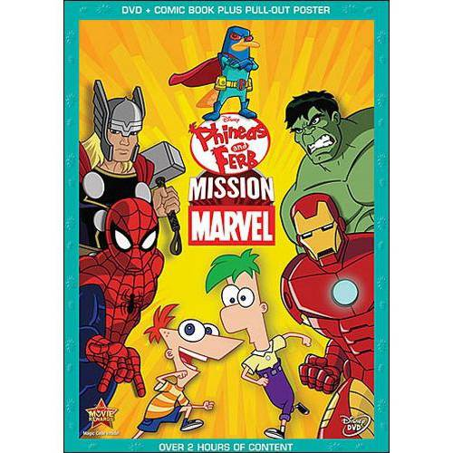 Phineas And Ferb: Mission Marvel (DVD   Collectible Comic Book   Pull-Out Poster) (Widescreen)