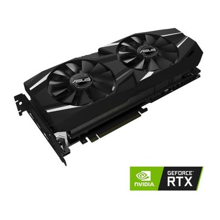ASUS GeForce RTX 2080 Overclocked 8G GDDR6 Dual-Fan Edition VR Ready HDMI DP 1.4 USB Type-C Graphics Card (DUAL-RTX2080-O8G) (Pc Video Card With Hdmi)