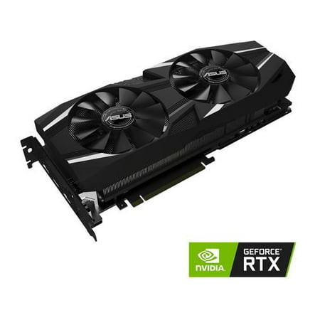 ASUS GeForce RTX 2080 Overclocked 8G GDDR6 Dual-Fan Edition VR Ready HDMI DP 1.4 USB Type-C Graphics Card (DUAL-RTX2080-O8G)