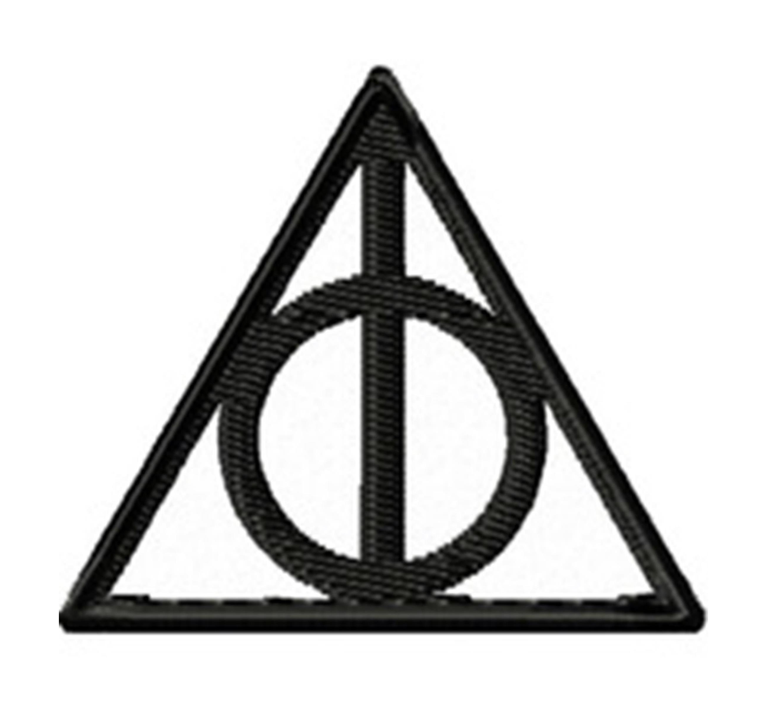 "Superheroes Deathly Hallows 2.5"" X 2"" Embroidered Iron/Sew-on Applique Patch"