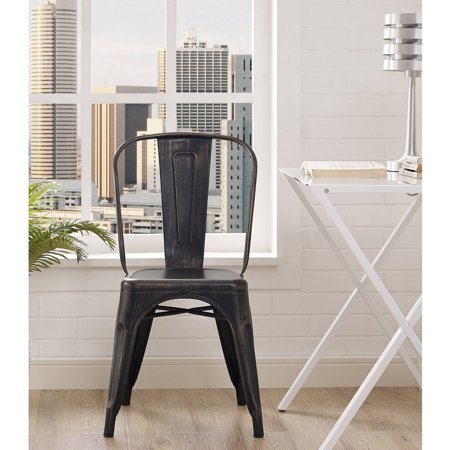 Antique Modern Metal Stack-able Bistro Chairs, Assorted Colors - Antique Modern Metal Stack-able Bistro Chairs, Assorted Colors