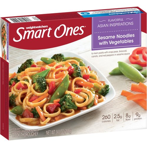 Weight Watchers Smart Ones Flavorful Asian Inspirations Sesame Noodles with Vegetables, 9 oz