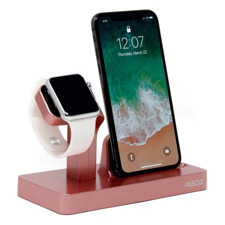 quality design 41ab9 3a339 Rose Gold Charging Dock Stand Station Charger Holder For Apple Watch iWatch  Series 4 3 2 1, iPhone XS Max /XS/ XR /X,iPhone 8 Plus, iPhone 8, iPhone 7  ...