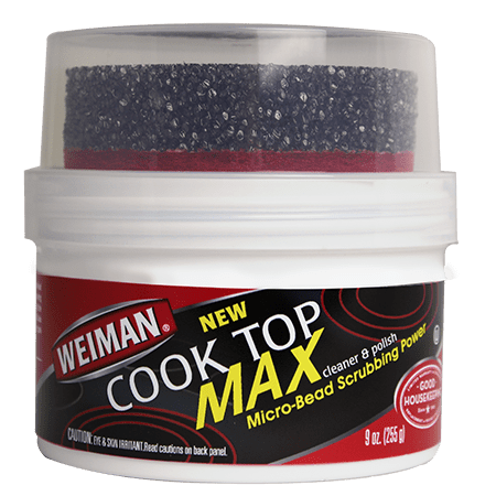 Weiman Cooktop Cleaner Max - 9 Ounce - Easily Remove Burned-On Food, Grease and Watermarks, Leaving Your Glass Cook Top - Elbow Grease Cleaners